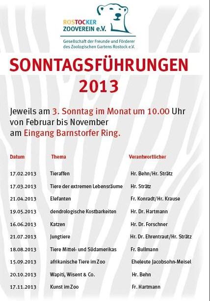 Sonntagsführungen 2013