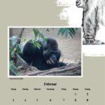 Innenseite vom Kalender des Rostocker Zoovereins 2014