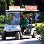 Mit dem Zooexpress vom Zooverein entspannt durch den Rostocker Zoo.