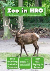 Titelbild Zoo in HRO Sonderausgabe 25-Jahre Rostocker Zooverein