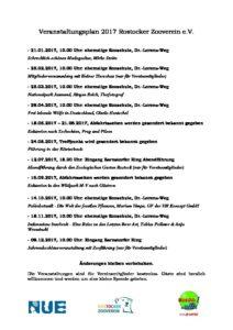 Veranstaltungen 2017 - Rostocker Zooverein