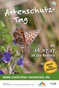 Plakat Artenschutztag 2017 vom Rostocker Zooverein im Rostocker Zoo
