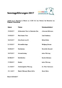 Programm Sonntagsführungen 2017