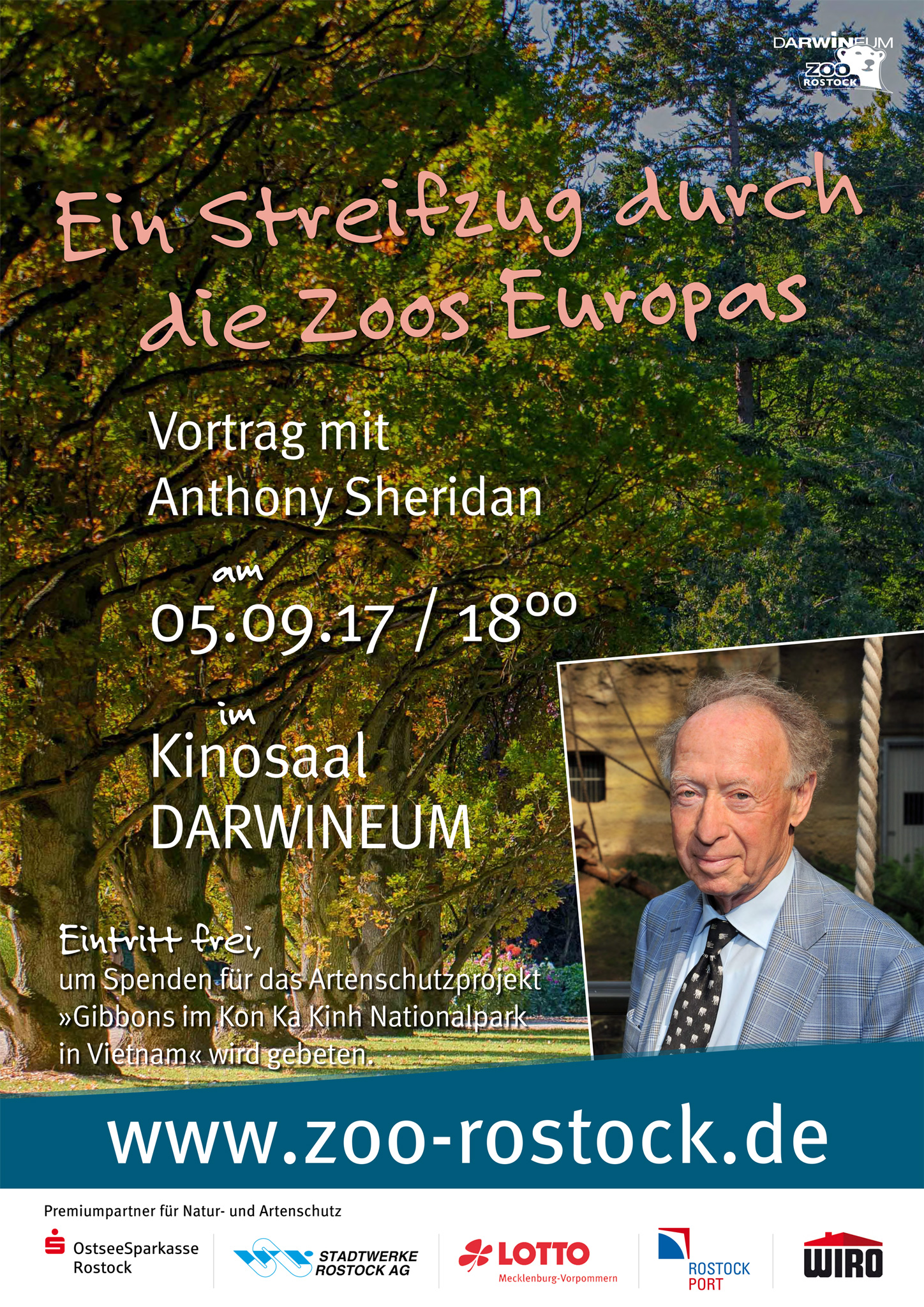 Vortrag Anthony Sheridan, Zoo Rostock Darwnieum 2018