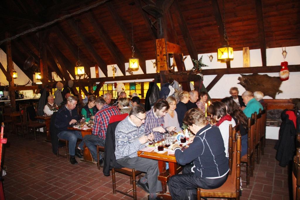 """Beisammensein in der Gaststätte""""Jägerhütte"""" - Jahresabschluss 2017"""