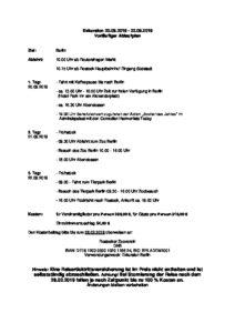 Ablaufplan Berlin Exkursion